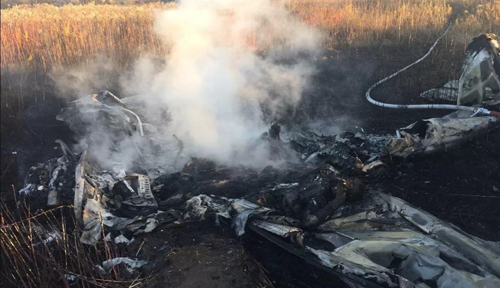 легкомоторный самолет разбился под Люберцами