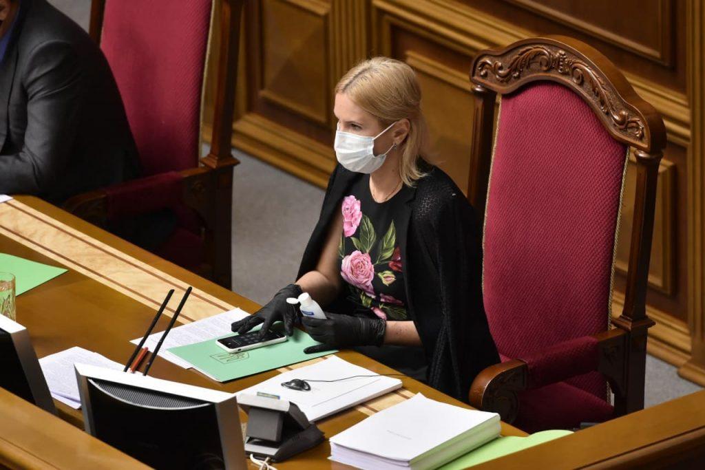 Впервые в украинской истории Раду возглавила женщина