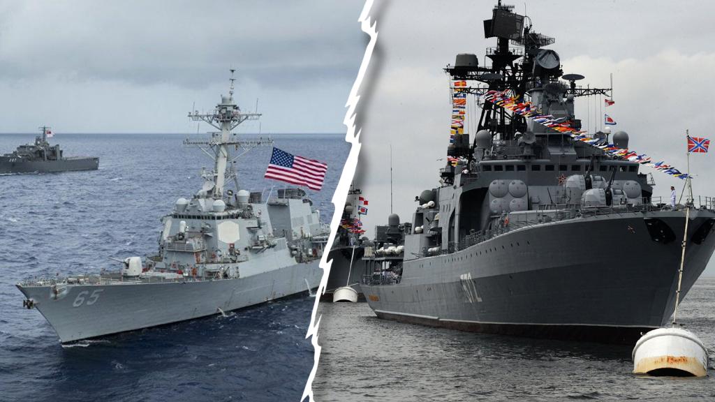 Минобороны РФ разместило видео вторжение эсминца ВМС США в территориальные воды