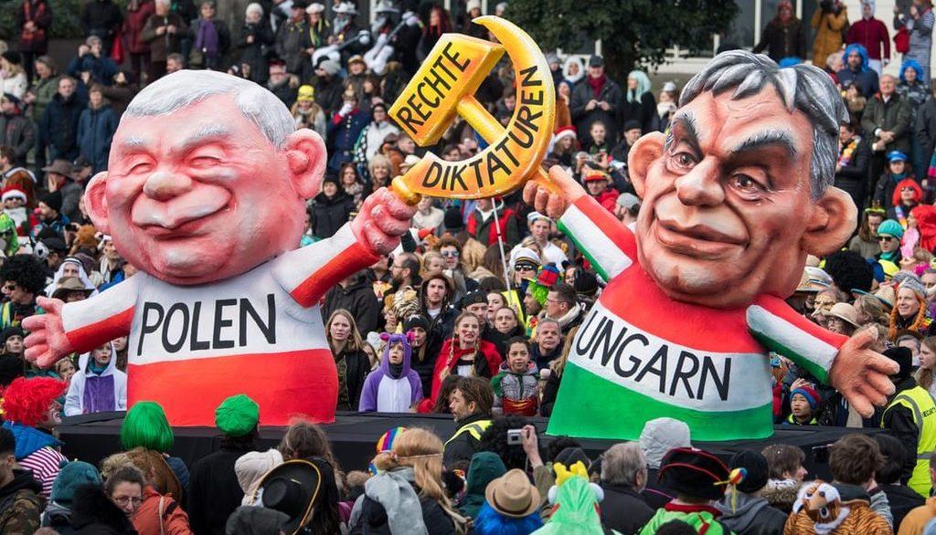митинг в ФРГ о Польше и Венгрии