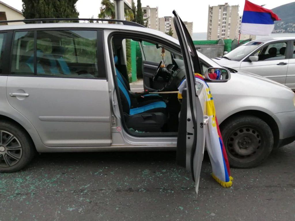 Пьяные полицейские Черногории напали на колонну автопробега в поддержку СПЦ