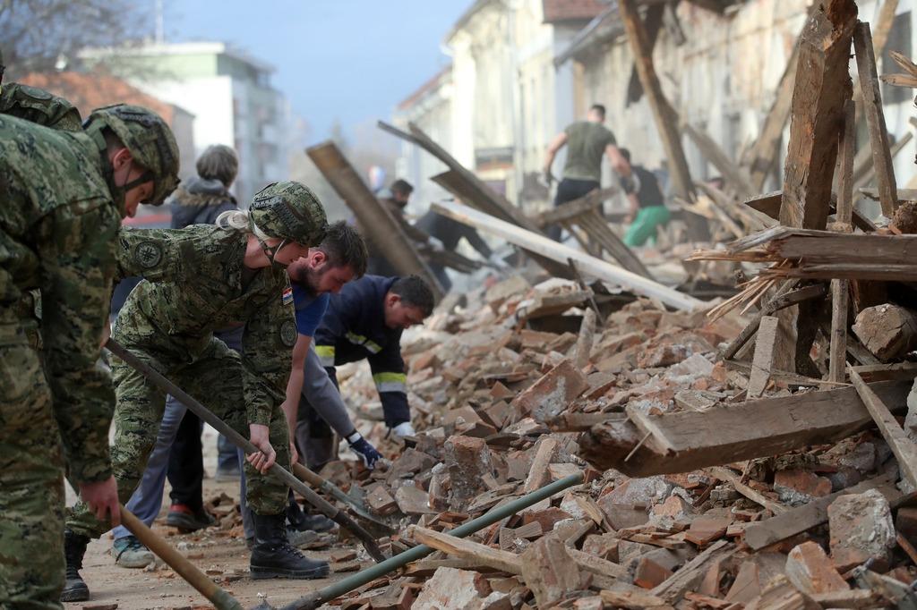 Землетрясенье в Хорватии, Петринья, 28-29 декабря 2020 года