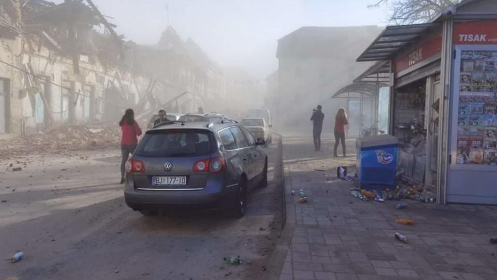 Землетрясенье в Хорватии, Петринья, 29 декабря 2020 года