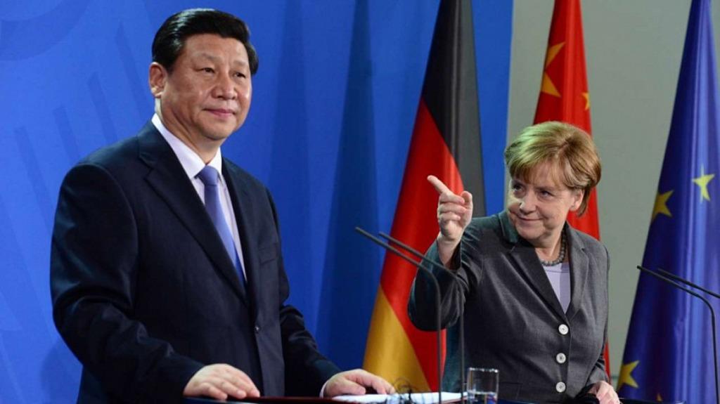 Си Цзинпинь и Ангела Меркель