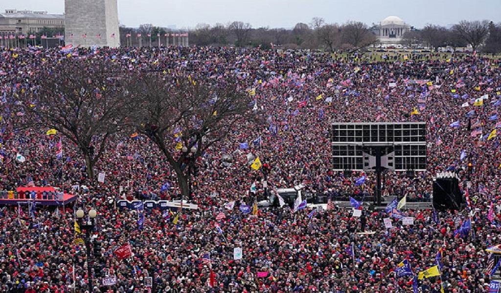 митинг на Капитолийском холме в поддержку Трампа