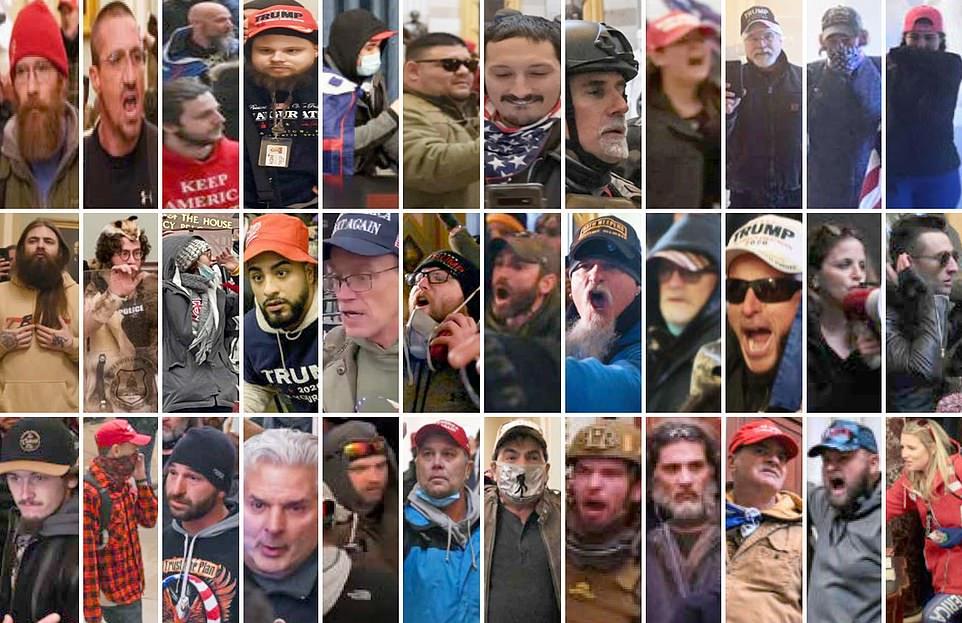 митингующие в Капитолии