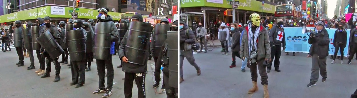 "марш ""антифа"" в Нью-Йорке 10 января"