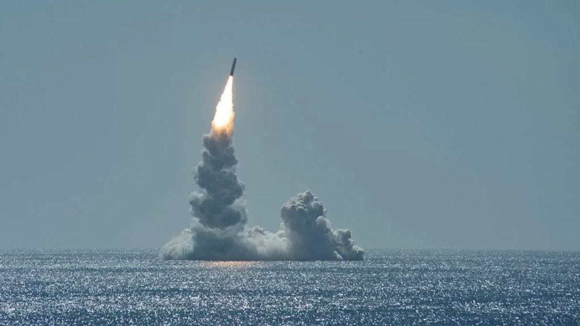 испытательный пуск американской баллистической ракеты