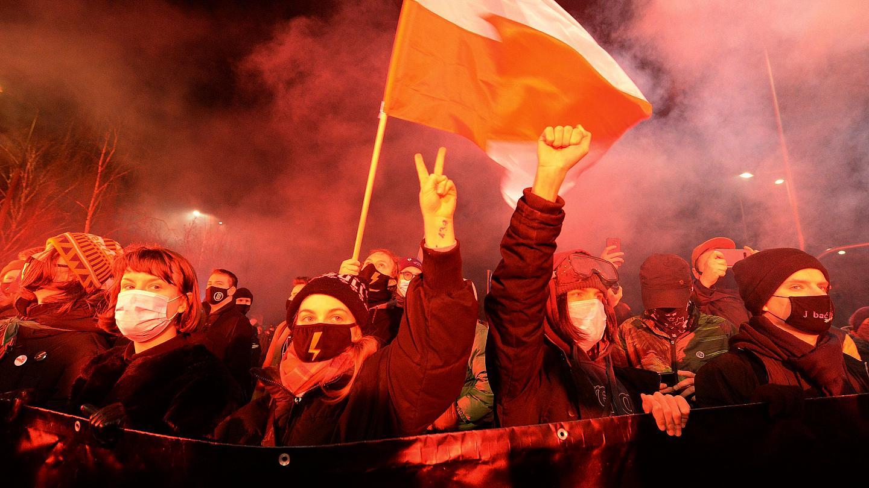 протест против абортов Польша