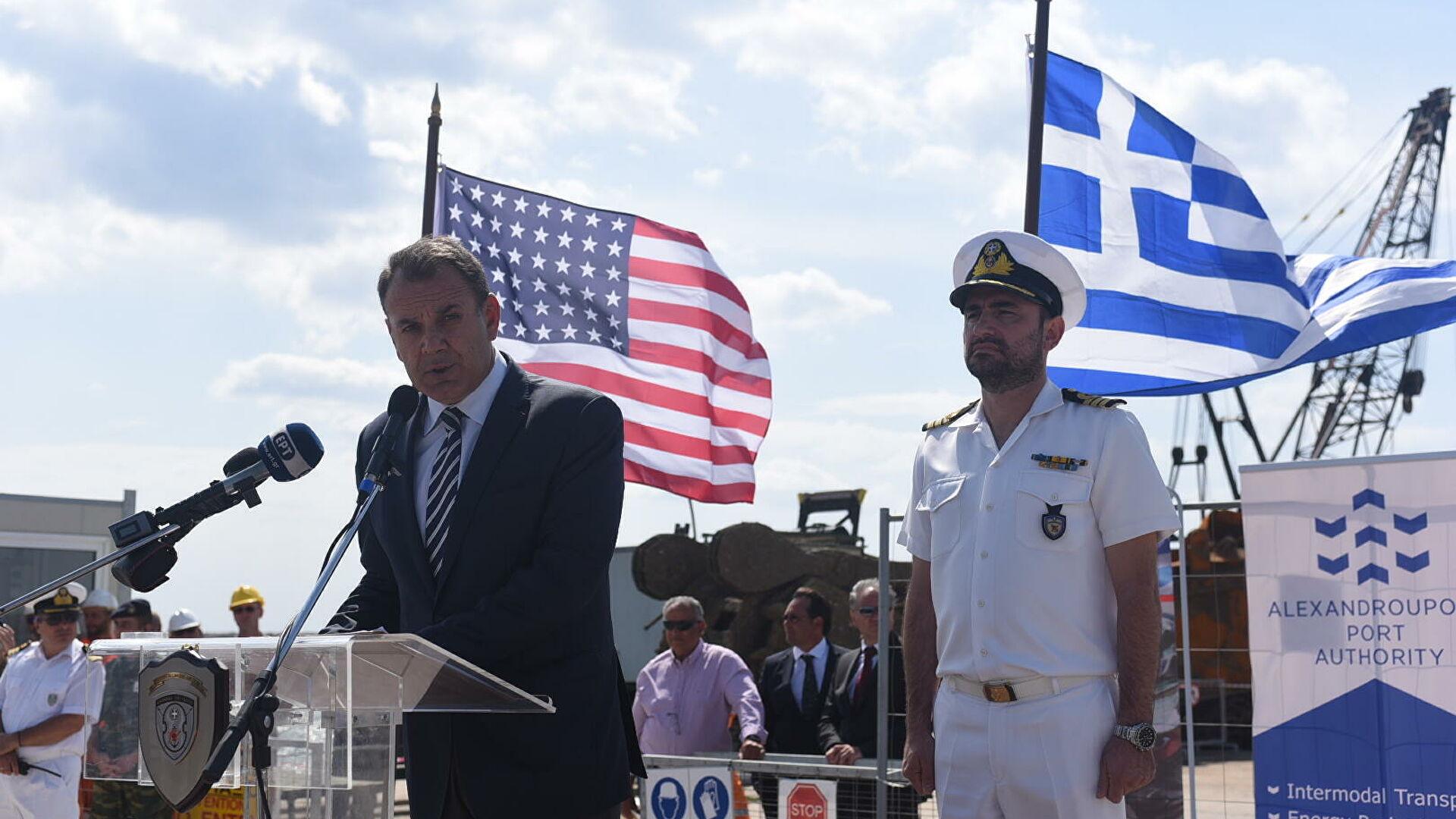 военное сотрудничество США и Греции в Александруполисе