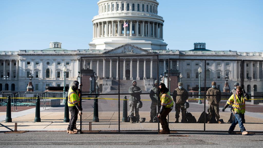 забор вокруг Конгресса США