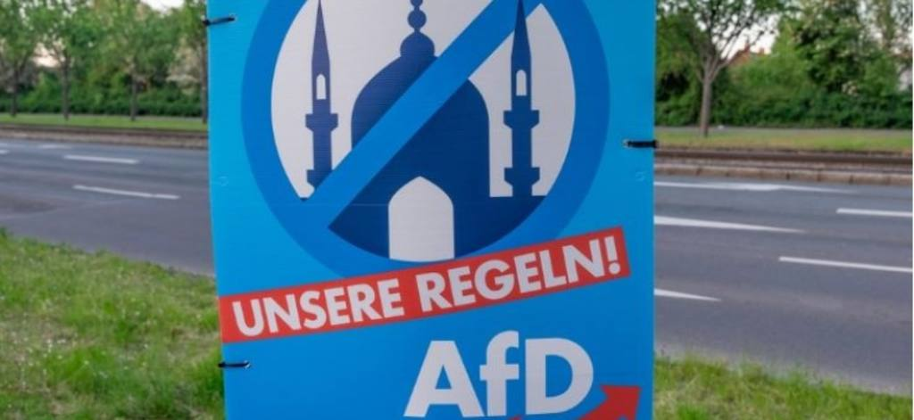 """антиисламский плакат АдГ """"наши правила"""""""