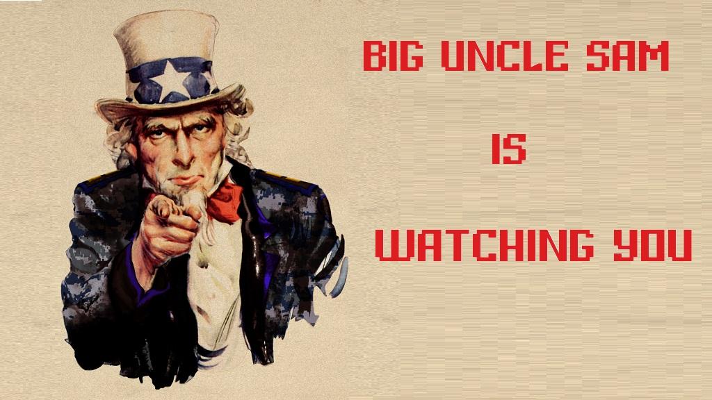 Большой дядя Сэм наблюдает за тобой