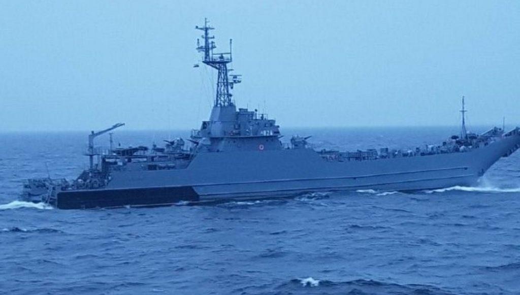"""военный корабль, мешающий строительству """"Северного потока-2"""""""