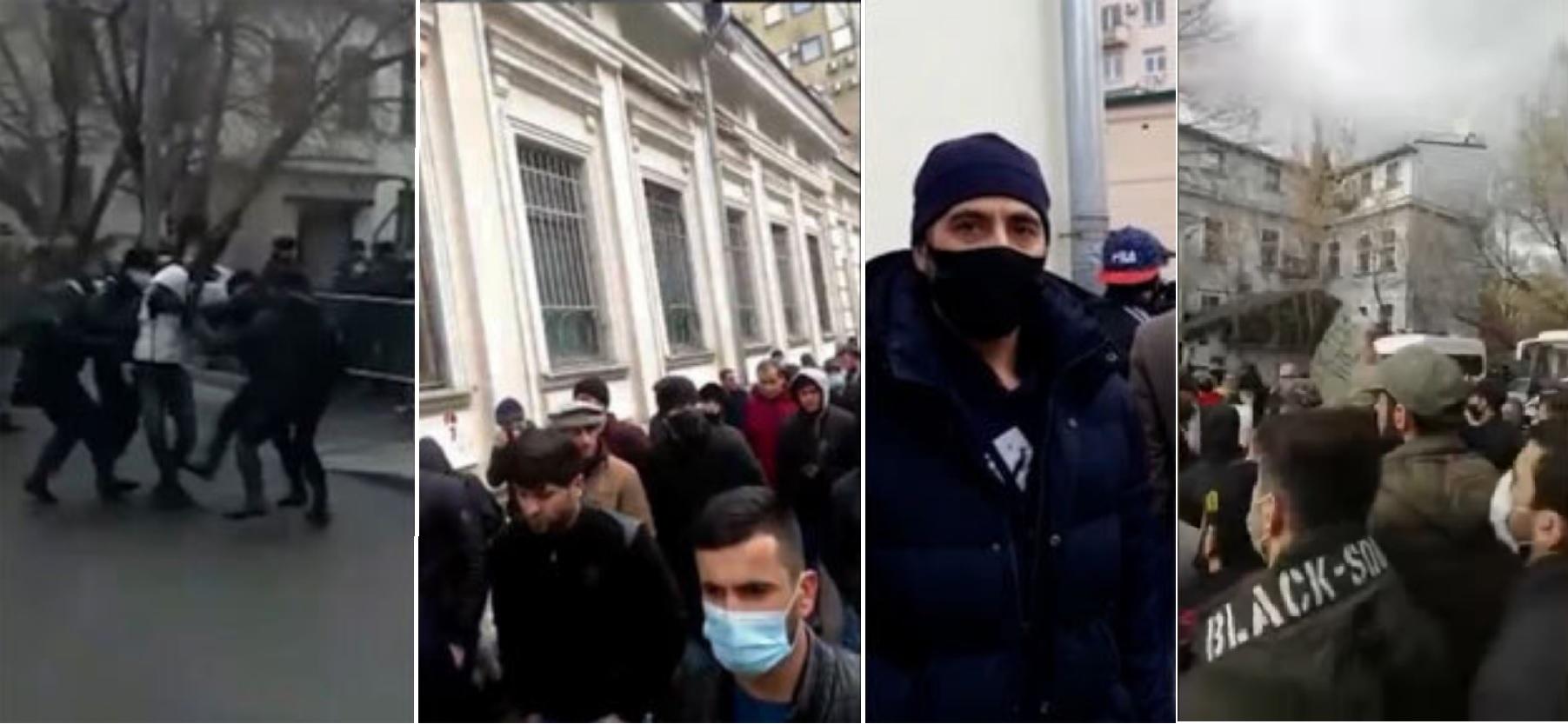 митинги мигрантов у посольства Таджикистана в Москве