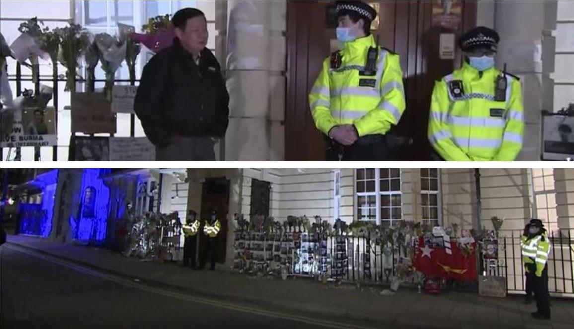"""посольство Мьянмы в Лондоне """"оккупировал"""" военный атташе"""