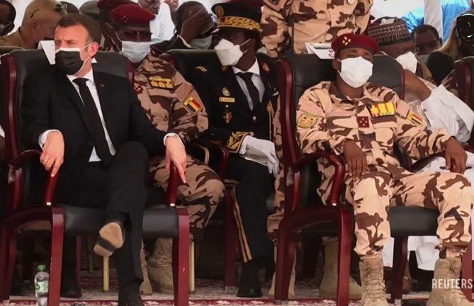 Макрон в Чаде, регион Сахеля