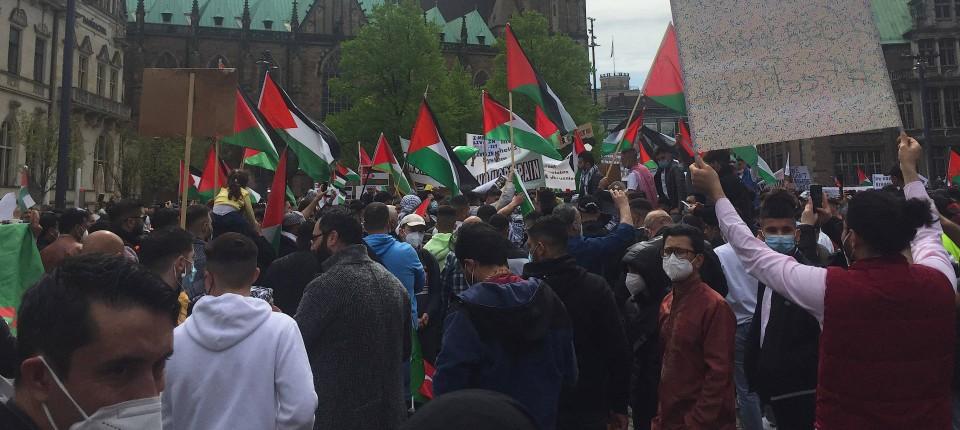 антиизраильские митинги в ФРГ