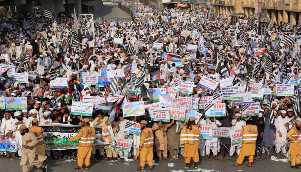 На пропалестинском митинге в Пакистане