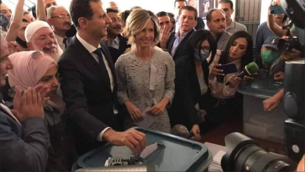 Асад на сирийских выборах