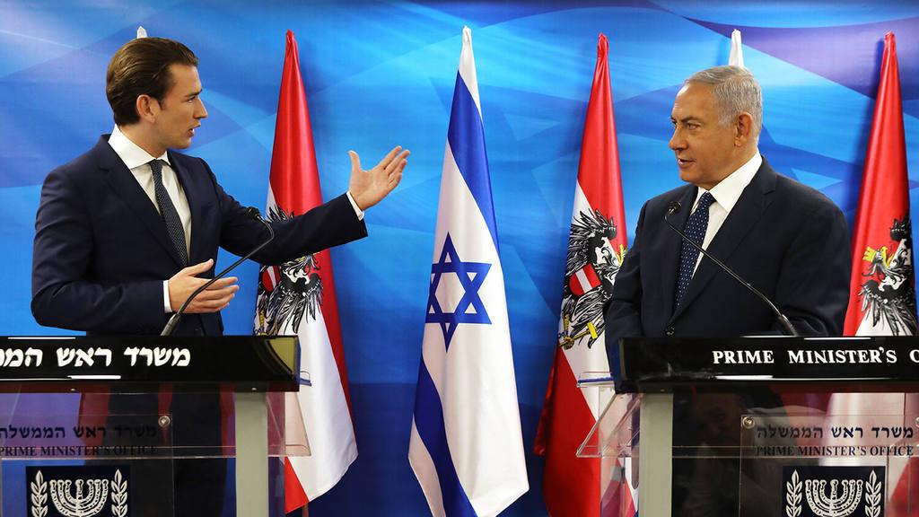 Себастьян Курц и Биньямин Нетаньяху