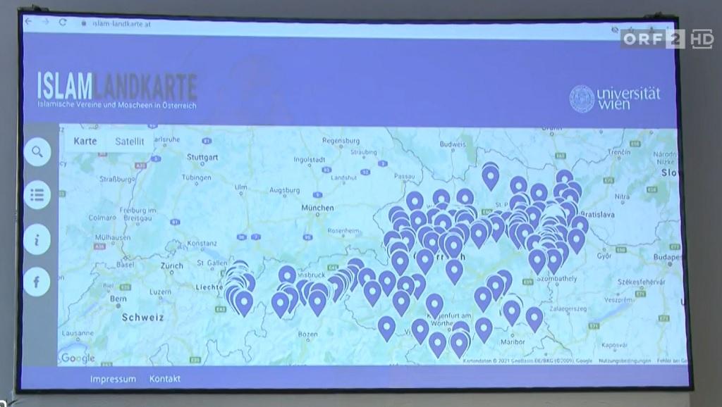 """""""Карта ислама"""" в Австрии"""