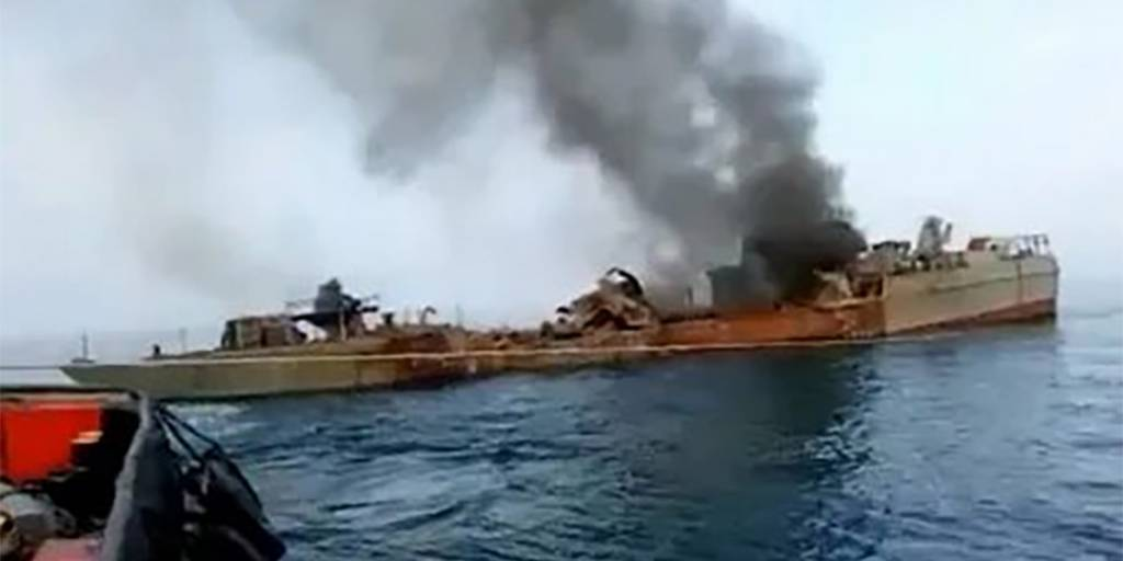 Корабль военного флота Ирана затонул