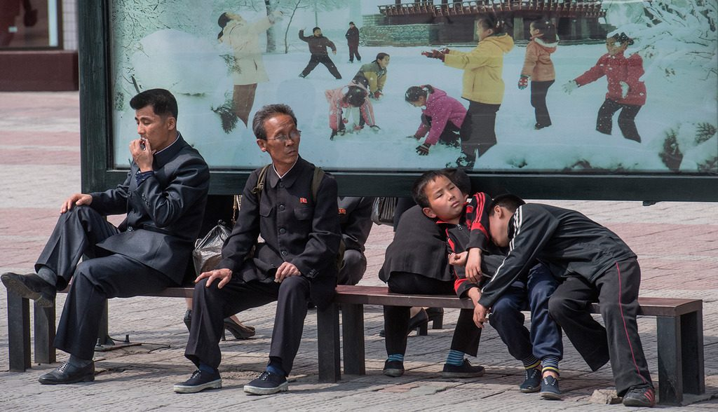 жители Пхеньяна, КНДР, 2017 год