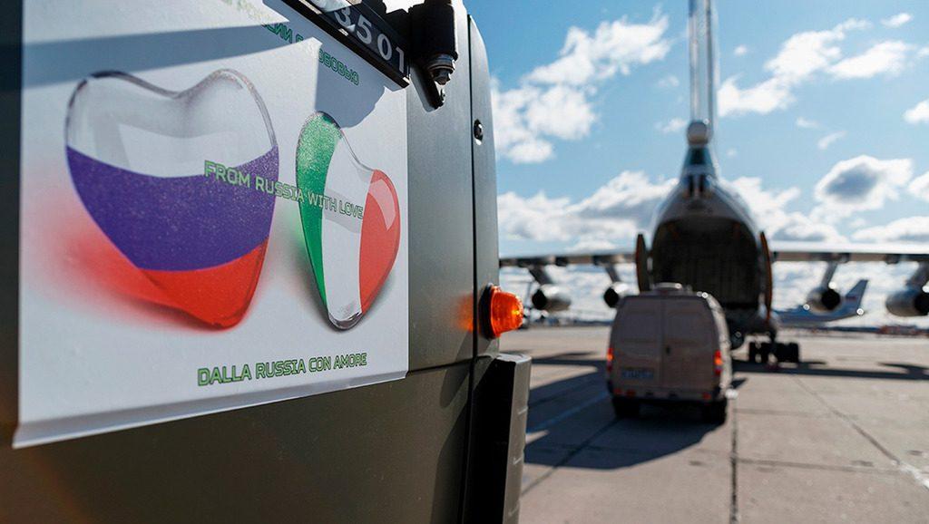 помощь Италии от России в борьбе с Covid