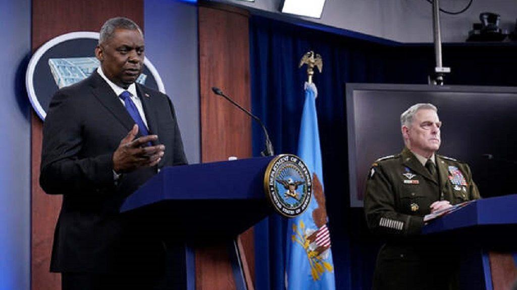 генерал Марк Милли и глава Пентагона Ллойд Остин