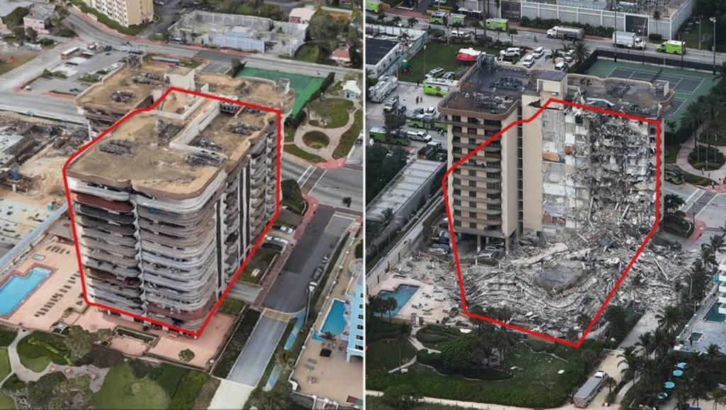 в пригороде Майами рухнуло здание