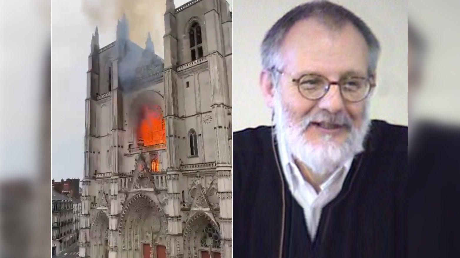 убитый связенник и сожженный собор в Нанте