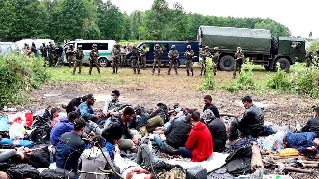 беженцы ломятся через польско-белорусскую границу