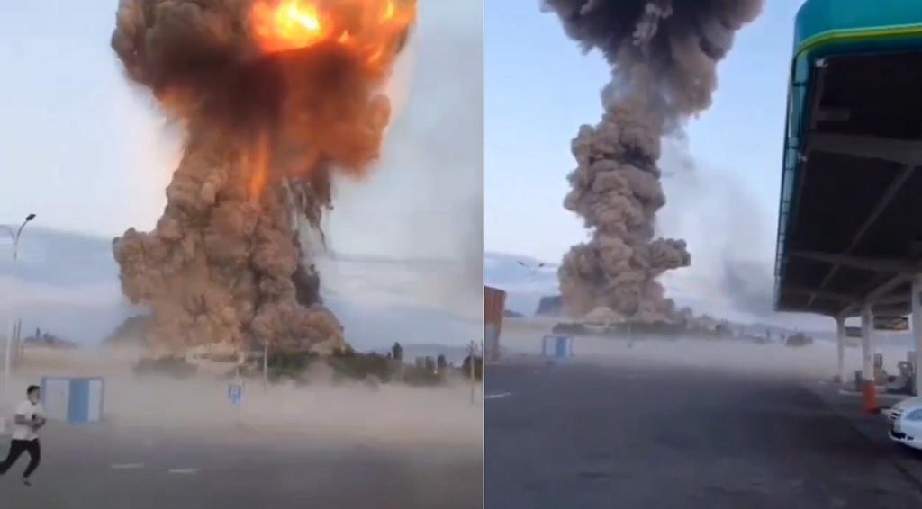 пожар на военном складе в Казахстане