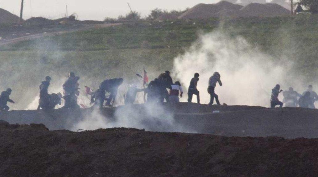 столкновения а границе Газы