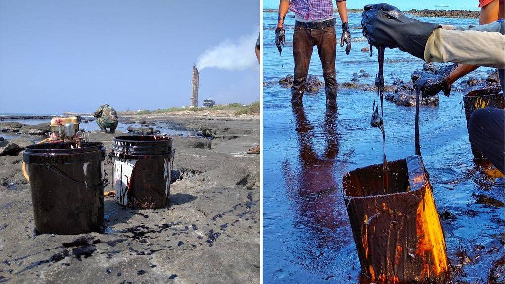 утечка нефти в сирийском Баниясе