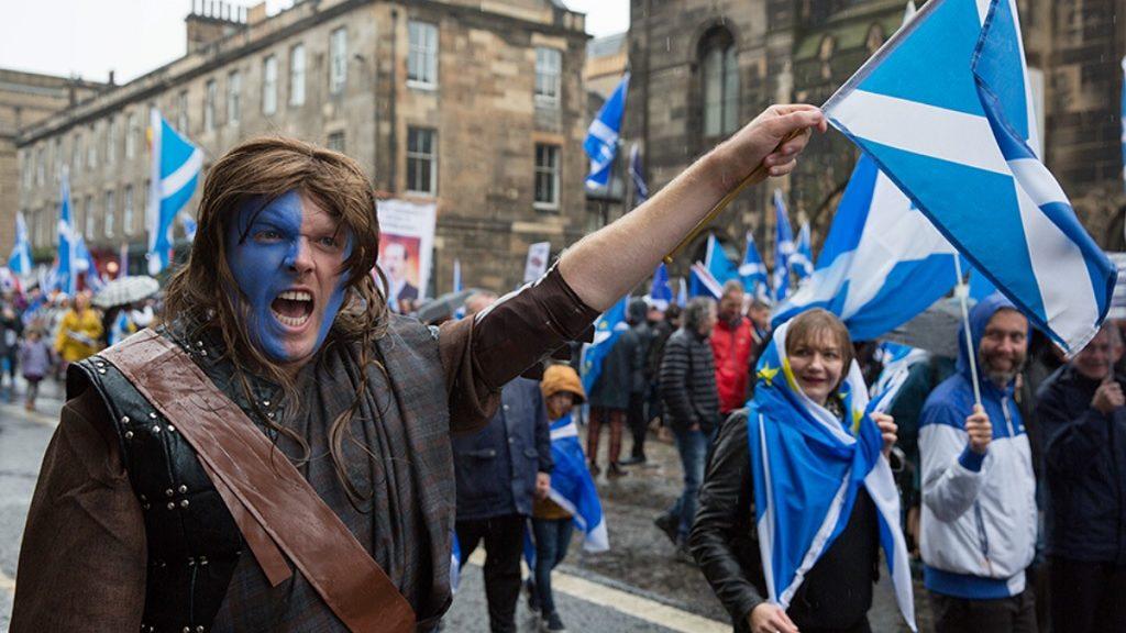 митинг в Шотландии
