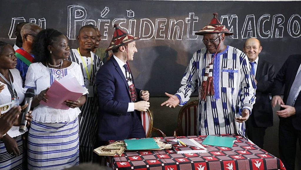президенты Франции и Буркина-Фасо